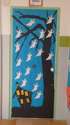 Porte D'halloween, Halloween Door Decorations, Flag, Art, November, Doors, Art Background, Kunst, Science