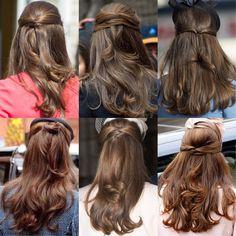 Curled Hairstyles, Pretty Hairstyles, Girl Hairstyles, Blow Hair, Kate Middleton Hair, Princesa Kate, Luxury Hair, About Hair, Hair Videos
