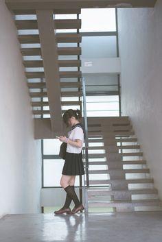 Image about japan in . School Uniform Fashion, School Uniform Girls, Girls Uniforms, Japanese School, Japanese Girl, Visual Kei, Yuri, Comic Tutorial, Cute Kawaii Girl