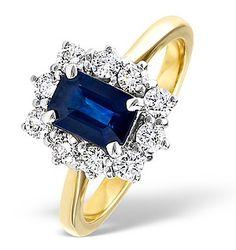 Sapphire 1.15ct And Diamond 0.50CT 18K Gold Ring - Item FET24-U