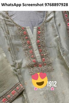 Fabric and Top Pure Upada silk Top with Resham thread work with Sippy and Chandala work* with zari workSharara Pure Chinon sharara with Resham thread work and Top Quality Flare and look Dupata Pure chinon dupata With thread work borders all sides Chest- Pakistani Party Wear, Pakistani Couture, Embroidery Suits Design, Embroidery Fashion, Designer Silk Sarees, Indian Designer Wear, Trendy Suits, Kurti Designs Party Wear, Silk Suit