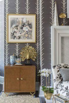 The Master Bedroom: Celerie Kemble for The Hampton Designer Showhouse, celerie kemble grasscloth wallpaper