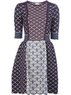 geometric print wool blend dress from M Missoni.