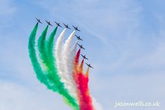 Frecce Tricolori in the skies above Fairford.  See the rest of my aviation images in full size by clicking on the thumbnail.  They are also available to buy in a variety for formats or as a digital download without the watermark. #riat #riat2014 #FrecceTricolori