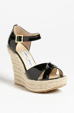 Getting ready for spring! Rope weave espadrille by Jimmy Choo