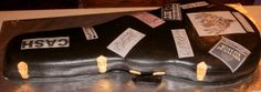 Guitar case cake I made for a musician and his wife for their wedding reception ;)    Wedding recpetion Guitar case cake By Alysia1982 on CakeCentral.com