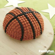 Hoop It Up: A domed cake will score big points with little sports fans.