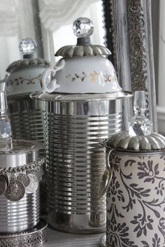 Recycled cans, china, door knobs, charm bracelets, silver pieces, flatware, and then some!