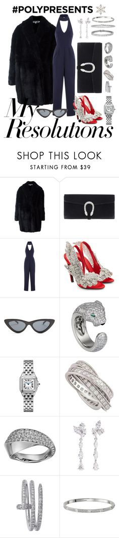 """#PolyPresents: New Year's Resolutions"" by martadvenancio ❤ liked on Polyvore featuring Alexander McQueen, Gucci, Lavish Alice, Balenciaga, Le Specs, Cartier, Anyallerie, Whit, contestentry and polyPresents"