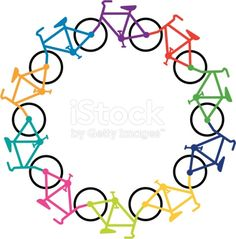 'Circle of cycles, in rainbow colors.'