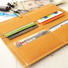 Make your own fabric wallet with this quick and easy DIY tutorial. And don't worry about wear and tear — Kraft Paper Fabric is supple, strong, and machine washable.