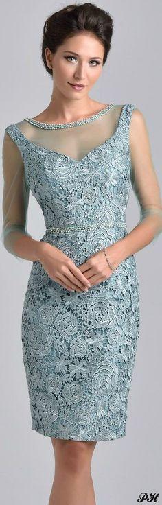 Vestido mamá de novia, encaje y transparencia.  Farb-und Stilberatung mit www.farben-reich.com - Nina Canacci
