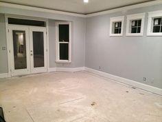 Sw 6255 Morning Fog On Walls Hardwood Floor And White I