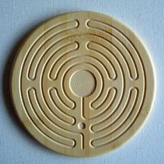 Finger labyrinth crafted in bamboo. From ispiritual.com