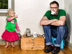 """This pictures are so creative or a father daughter time - priceless. """"Potty Mouth"""" by Dave Engledow"""
