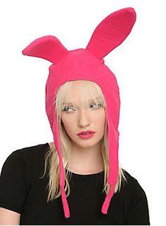 Fleece replica of Louise's trademark rabbit ear hat from <i>Bob's Burgers</i>.<ul><li> One size</li><li>Man-made materials </li><li>Imported</li></ul>