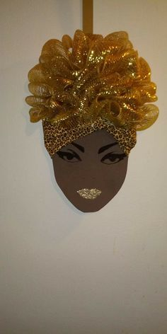 Wreath Crafts, Diy Wreath, African American Art, African Art, Crafts To Do, Arts And Crafts, African Christmas, African Crafts, Paint And Sip