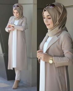 Stylish Hijab, Modest Fashion Hijab, Modern Hijab Fashion, Muslim Women Fashion, Hijab Fashion Inspiration, Islamic Fashion, Fashion Outfits, Hijab Fashionista, Stylish Dress Designs