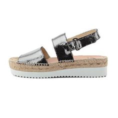 Wedge sandal Shops, Spring Summer 2016, Bohemian Style, Wedge Sandals, Espadrilles, Chanel, Wedges, Silver, Fashion