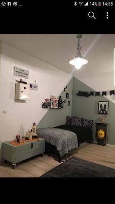 Ook in een stoere jongenskamer komt Early Dew goed uit de verf :-) Girls Bedroom, Bedroom Decor, Fashion Room, Kid Spaces, New Room, Room Inspiration, Kids Room, Boys Room Paint Ideas, Home