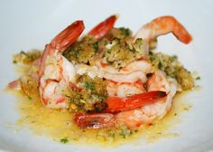 Baked Shrimp Scampi by Ina Garten, The Barefoot Contessa. I like a little shrimp, and this recipe rocks! Fish Recipes, Seafood Recipes, Great Recipes, Cooking Recipes, Shrimp Dishes, Fish Dishes, Jambalaya, Baked Shrimp Scampi, Food Obsession