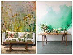Usar las paredes como un lienzo en blanco