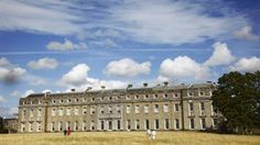 Visitors enjoying the spectacular view of Petworth House