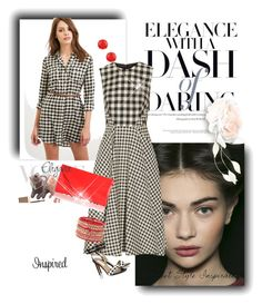 """Gingham"" by meri-husic ❤ liked on Polyvore featuring Forever 21, Lela Rose, Cara Couture, Diane Von Furstenberg, L.K.Bennett and FOSSIL"