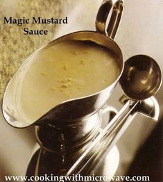 Magic Mustard Sauce for Microwave you can swap the mustard-powder for curry-powder and you have an amazing curry-sauce. Easy Microwave Recipes, Microwave Oven, Sauce Recipes, Cooking Recipes, Sauces, Sauce For Salmon, Tomato Pasta Sauce, Recipe Tonight, What Recipe