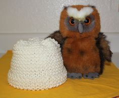 Hand Knit Baby Hat Very Soft Thick Cotton by KnitAndCrochetCafe, $15.00
