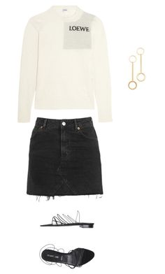 """""""Untitled #23"""" by brontelindley ❤ liked on Polyvore featuring Loewe, Topshop and Helmut Lang"""
