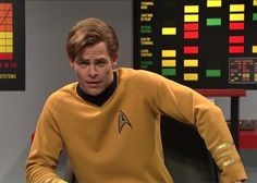 Chris Pine plays William Shatner's Captain Kirk in this lost Star Trek episode From SNL: http://slate.me/2qOo23P