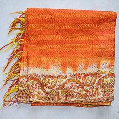 Vintage Hand-Stitched Kantha Scarf