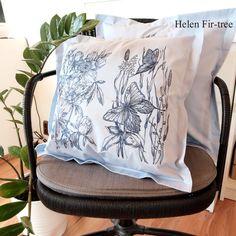Helen Fir-tree machine embroidery  #helenfirtree #handmade #rucniprace  #idea  #pillows #machineembroidery #embroidery Fir Tree, Drawstring Backpack, Machine Embroidery, Diaper Bag, Needlework, Pillows, Handmade, Bags, Instagram