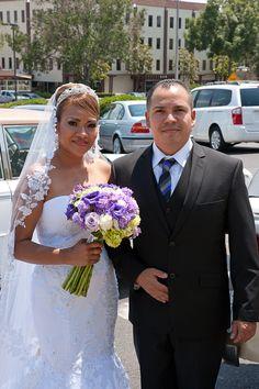 The bride has finally arrived. #RksPhotography #SanDiegoPhotography #NorthCountyPhotography #Wedding #Vista #StFrancisOfAssisiCatholicChurch #Alberto