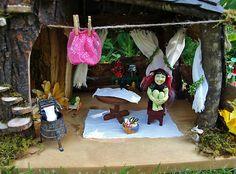 Fairy House With Nursery Tower & Hand Sculpted Baby Fae & Goblin Nanny Dollhouse | eBay