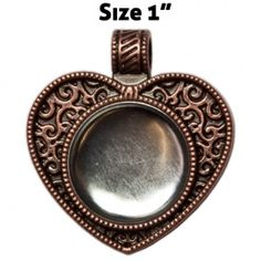 Magnabilities - magnetic changeable jewelry ~ Heart - Copper.  To order:  http://anitagault.magnabilities.com/