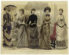 Peterson's magazine, June, 1883. Fashion Plate (The Country House)