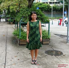Velvet Ribbon: Magam June Part 1 : Pleated Hem Batik Dress