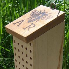 Leafcutter Bee Nest Block, Recycled Wood. I have to learn how to make this..