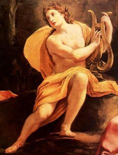 """Apollo is also the god of the sun, medicine, and he is often referred to as """"the god of the silver bow"""". He is called this because he killed a python when he was 4 days old. His symbols are also the raven and the wolf."""