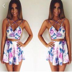 dress floral tank top crop tops skirt girly circle skirt flowers