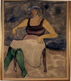 milton avery | Milton Avery, Green Stockings , 1964, Oil on canvas, Courtesy of the ...