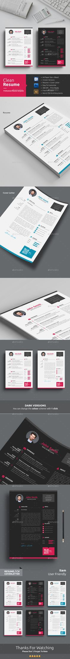Resume Template PSD AI design Download httpgraphicrivernet
