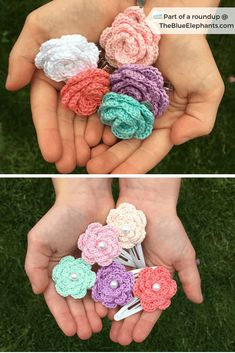 Crochet flowers are so quick and easy to make, they're perfect for beginners. Here are the top 10 free crochet flower patterns to try out! Crochet Hair Clips, Crochet Hair Styles, Crochet Poppy Pattern, Crochet Patterns, Doily Patterns, Dress Patterns, Crochet Gifts, Easy Crochet, Diy Crochet Flowers