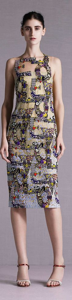 Clever, it says LOVE. Mary Katrantzou Collection Resort 2015 | The House of Beccaria~