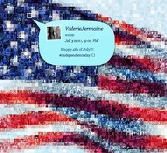 """""""The site aggregates twitter avatars from users who tweet about #July4 and beautifully mashes them up into a mosaic representation of the stars and stripes–again representing the diversity and unity of the original flag."""""""