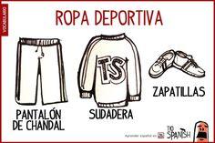 vocabulario ropa deportiva en español