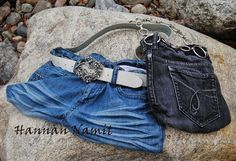 handbags.recycling old jeans. sewing