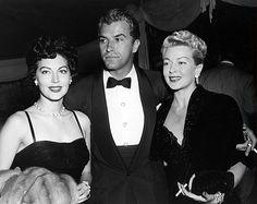 "fuckyeahavagardner: "" Ava Gardner, Lana Turner, and Fernando Lamas arriving at a party thrown by Marion Davies, 1952 """